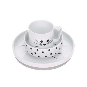 Juego vajilla de porcelana GATO