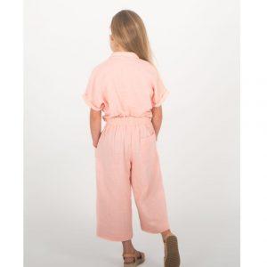 Conjunto lino rosa TUL Y POMPON