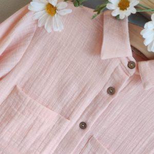 Vestido camisero rosa TUL Y POMPON