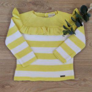 Jersey rayas limón/blanco CESAR BLANCO