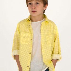 Camisa vichy amarillo TUL Y POMPON