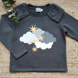 Sudadera niña Nubes MON PETIT BONBON