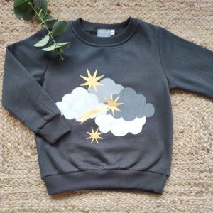 Sudadera niño Nubes MON PETIT BONBON
