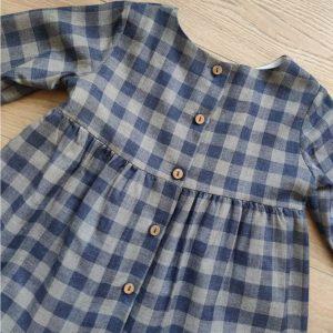 Vestido cuadro vichy azul/gris BABY YIRO