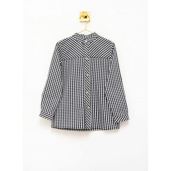 Camisa Mao Vichy Negro